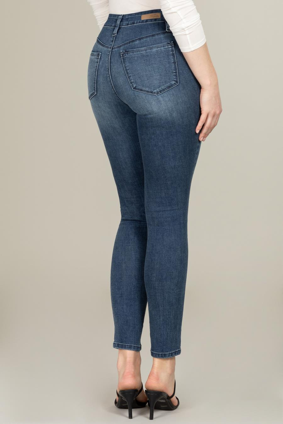 Women Hide Your Muffin Top High-Rise Denim Skinny Jean