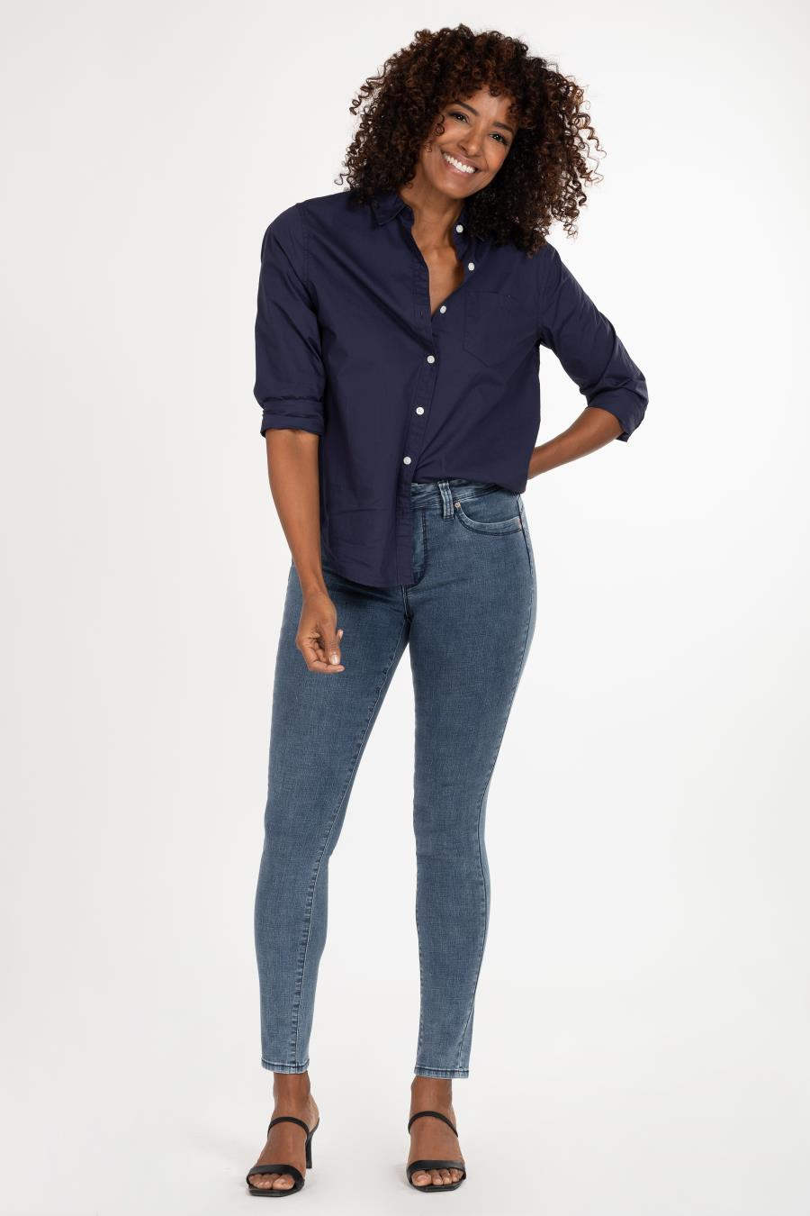 Women WannaBettaButt High-Rise Denim Skinny Jean