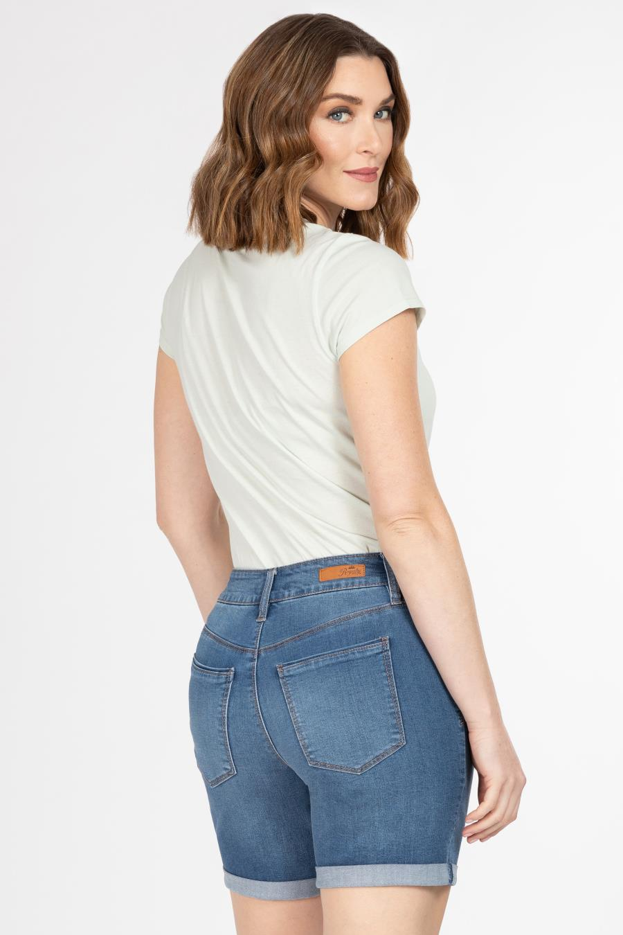 Women Hide Your Muffin Top Rolled Cuff Shorts