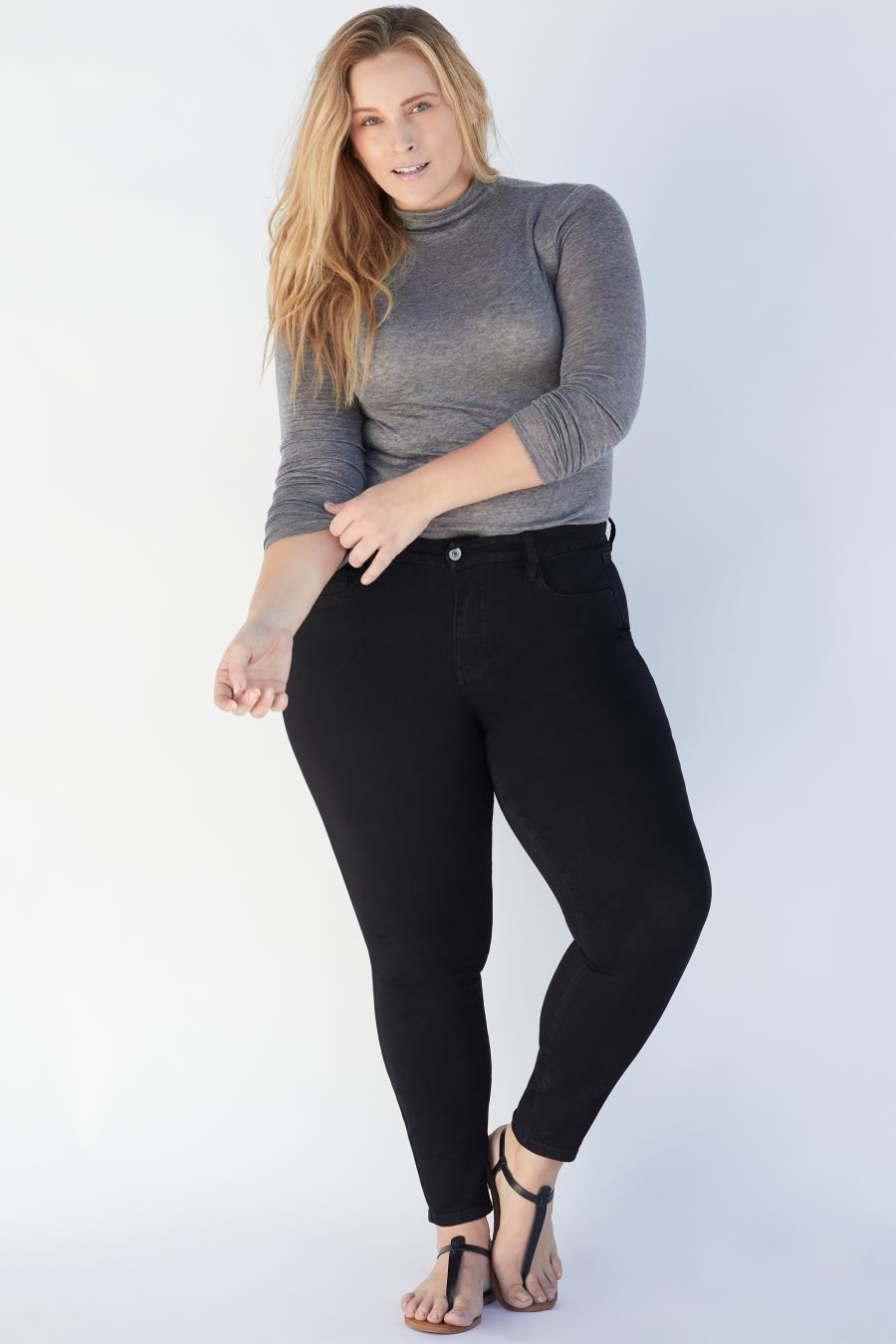 Women Plus Size Curvy Fit High-Rise Skinny Jean