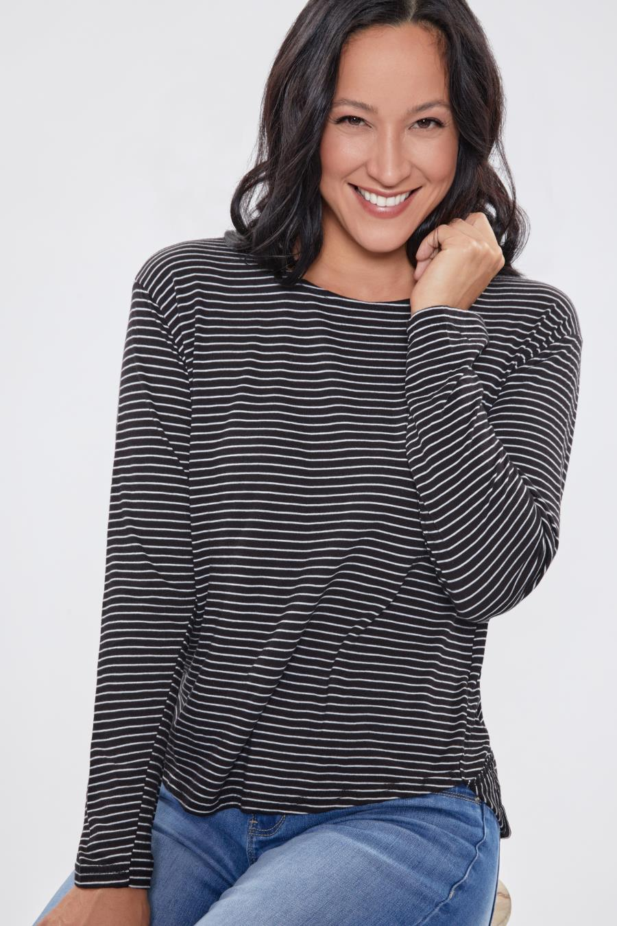 Women Casual Nautical Long Sleeve Tee