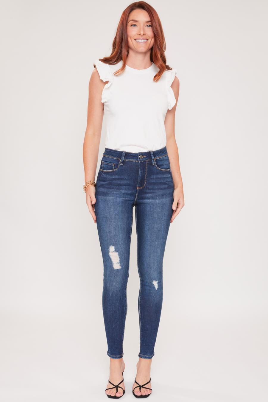 Women Hide Your Muffin Top High-Rise Basic Skinny Jean