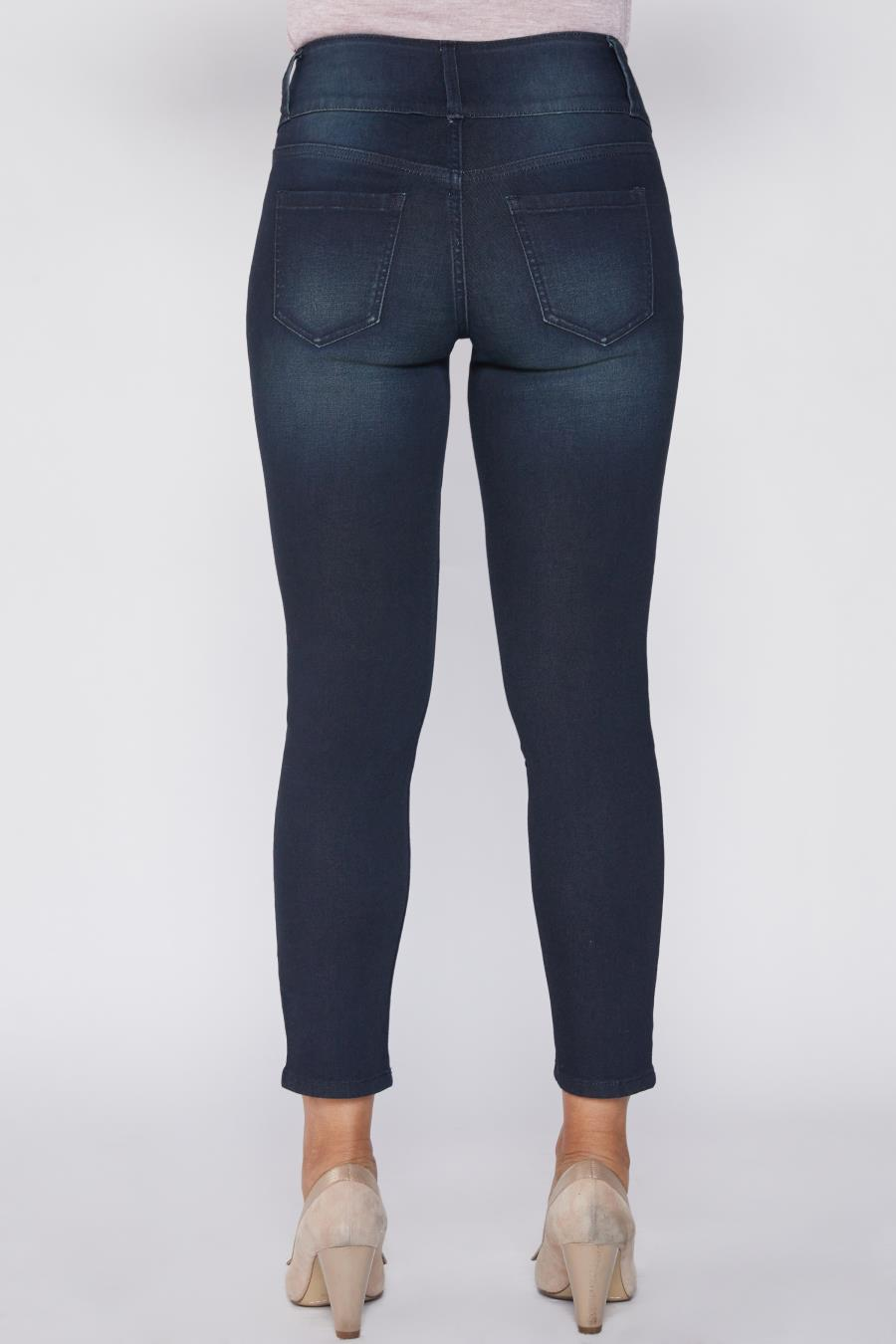 Women Petite 3 Button High-Rise Skinny Jean