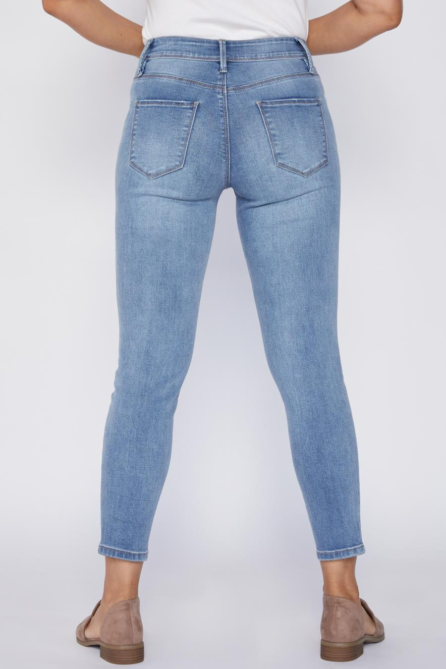 Women Petite Hide Your Muffin Top Skinny Jean Made With Recycled Fibers