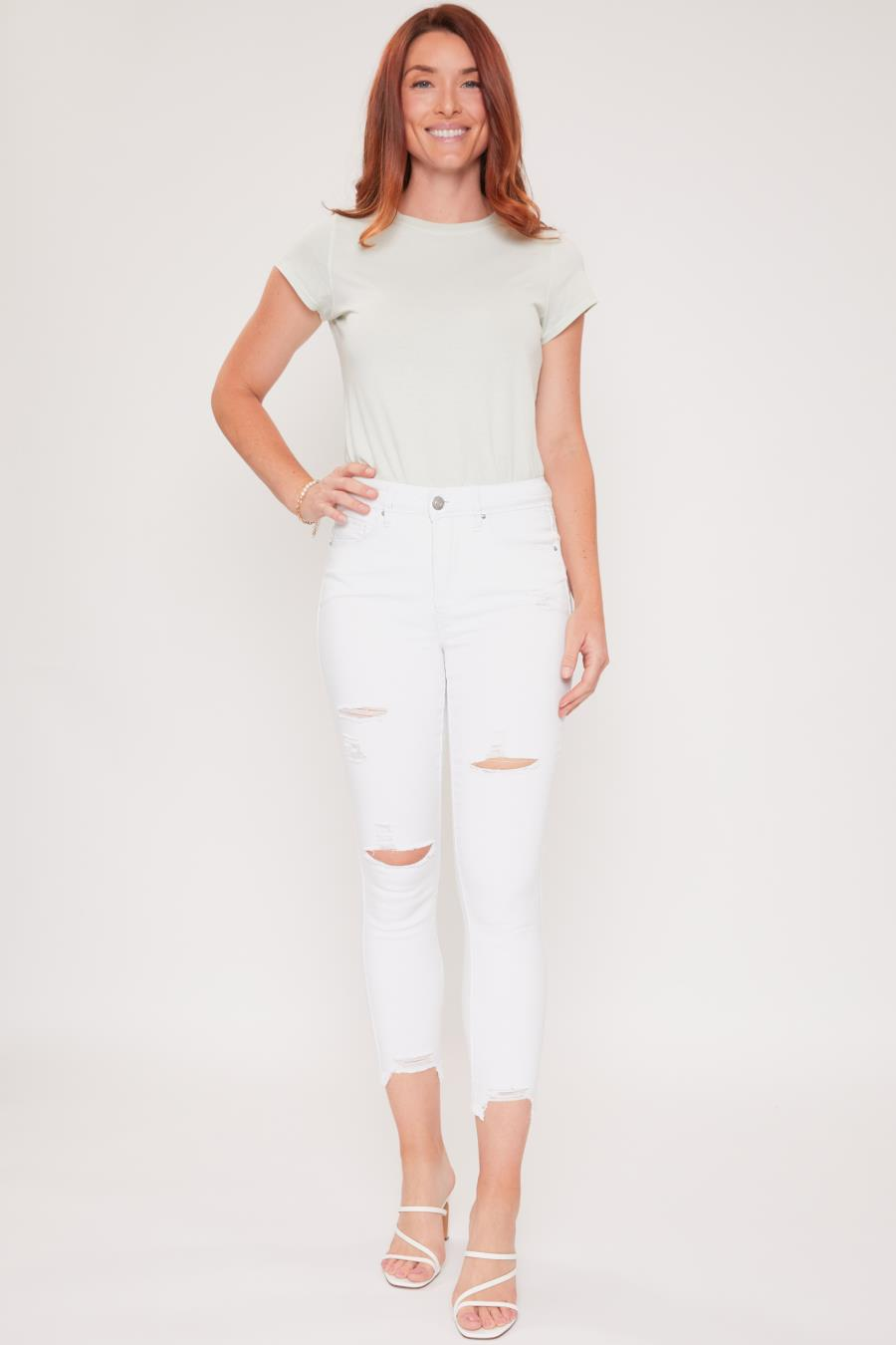 Women Hide Your Muffin Top Skinny Pant With Fashion Ankle Made From Recycled Fibers