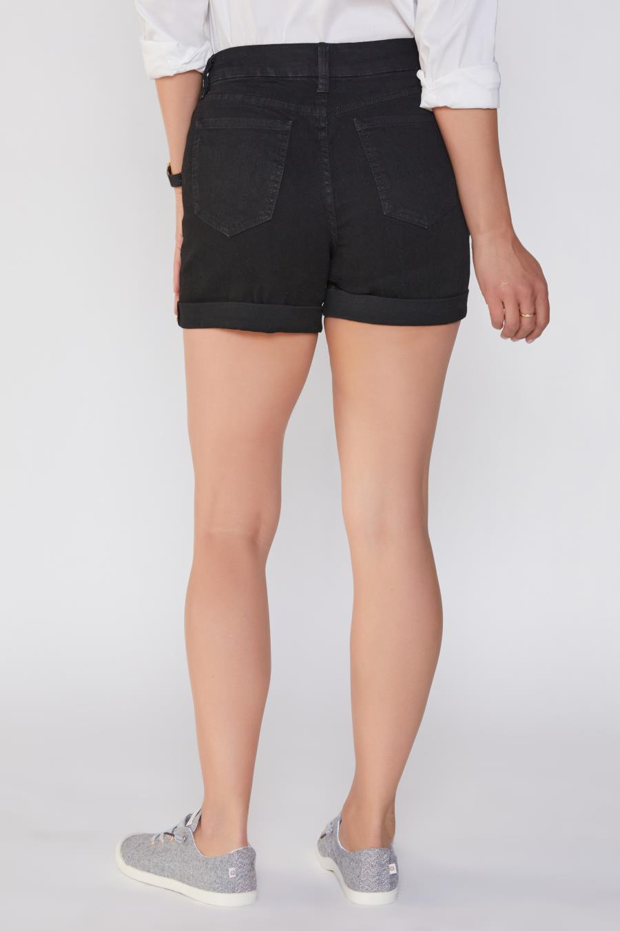 Women Curvy Fit High-Rise Cuffed Shorts Made With Recycled Fibers