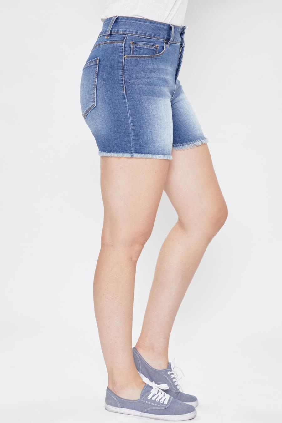 Women Hide Your Muffin Top Frayed Hem Shorts