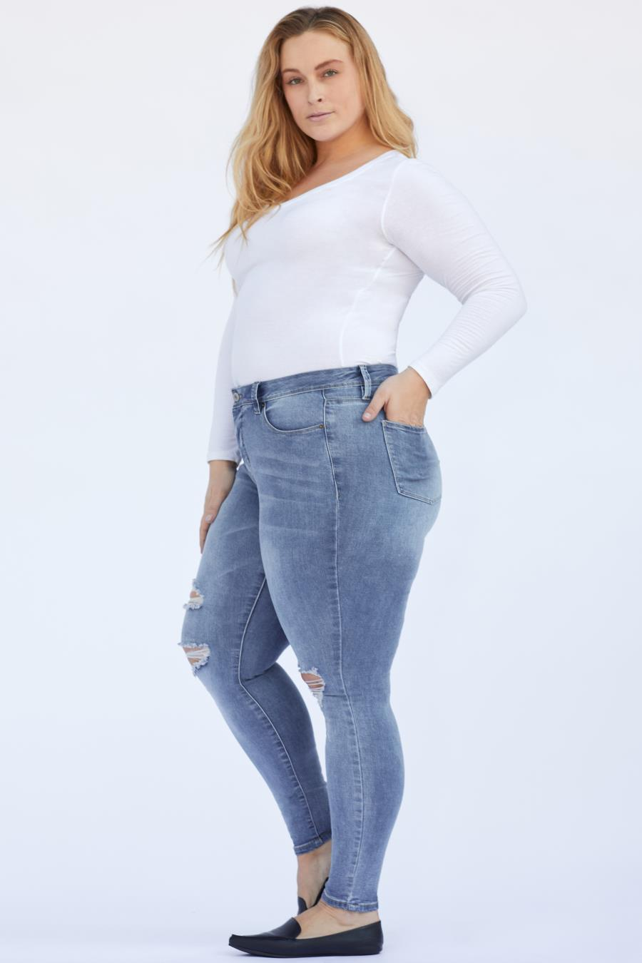 Women Plus Size High-Rise Skinny Jean