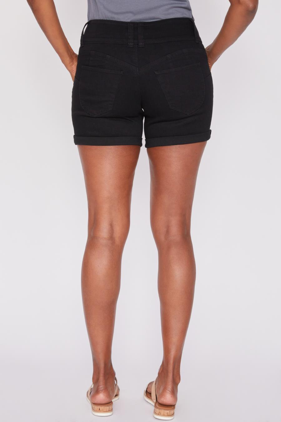 Women WannaBettaButt 3 Button Rolled Cuff Shorts Made With Recycle Fibers