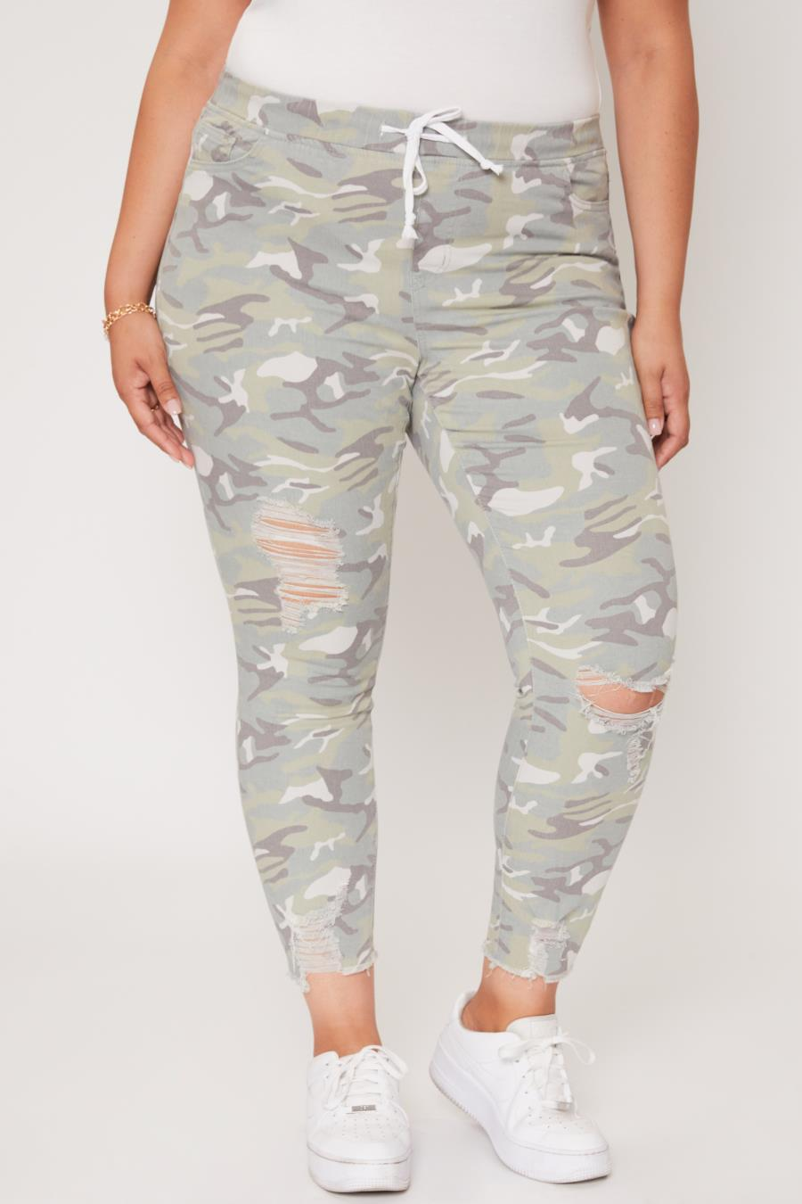 Women Plus Size High-Rise Ankle Jogger
