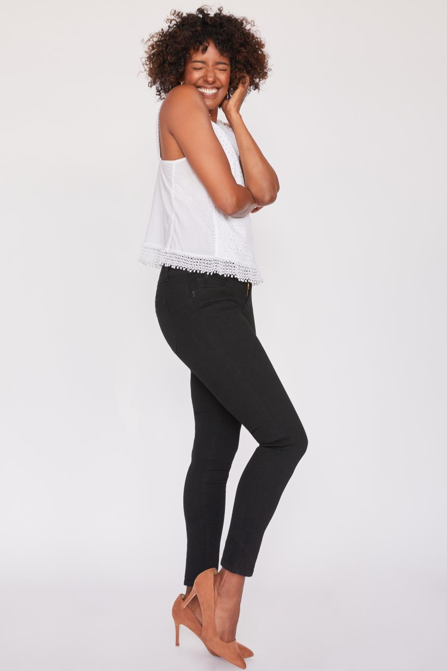 Women WannaBettaButt 3 Button Skinny Jean Made From Recycled Fibers