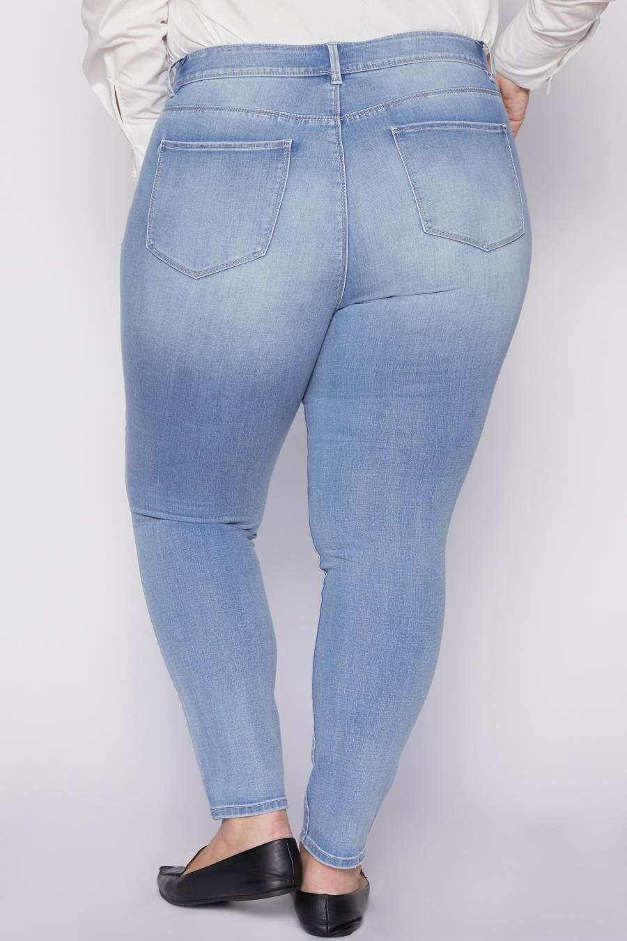 Women Plus Size Hide Your Muffin Top High-Rise Skinny Jean