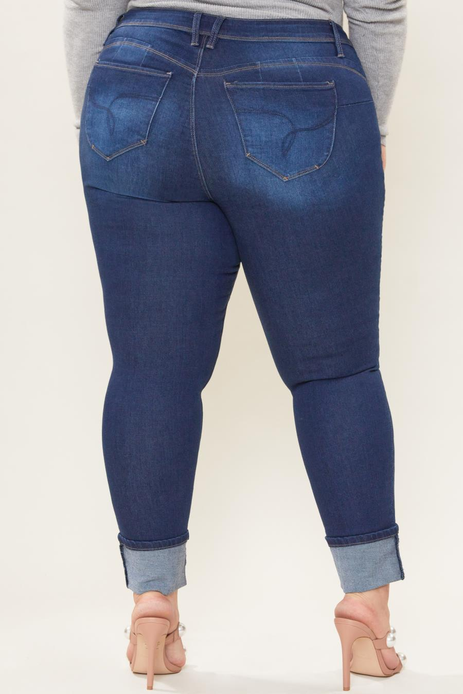 Women Plus Size WannaBettaButt Skinny Ankle Jean Made With Recycaled Fibers