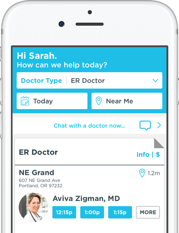 Instant access to no-wait emergency visits with our ER doctors.