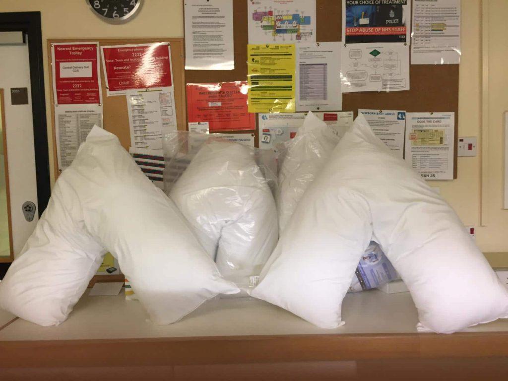 New nursing pillows for PRH SCBU
