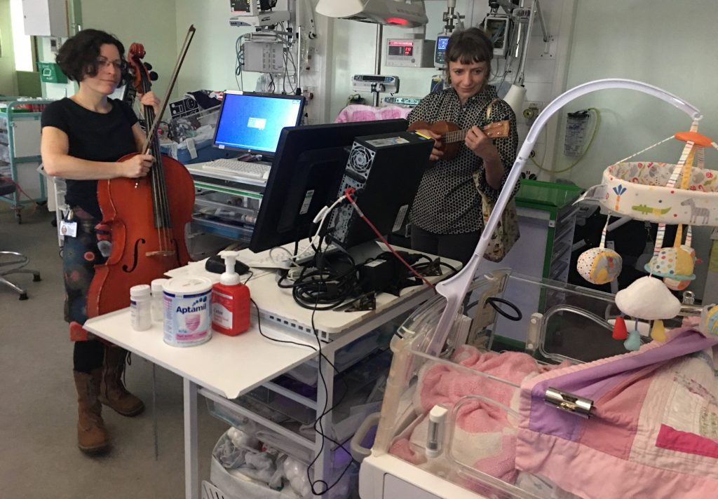The EBA is funding The Wishing Well Music for Health programme – bringing therapeutic live music for wellbeing to TMBU and PRH SCBU
