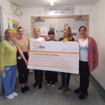 Push for Prems present EBA with a cheque for £3900.61!