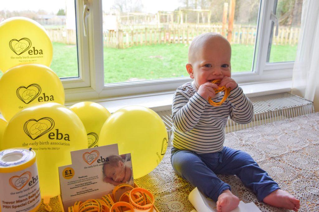 Arlo's first birthday fundraiser for The EBA