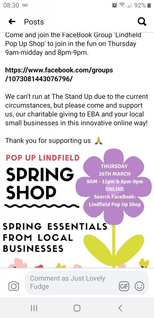 Lindfield Pop Up Shop – NOW ONLINE!