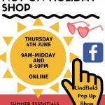 Online pop up shop raising funds for The EBA – Thursday 4th June
