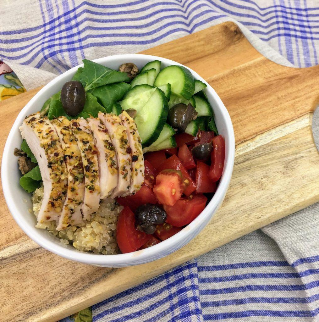 Mediterranean Chicken Quinoa Bowl Recipe