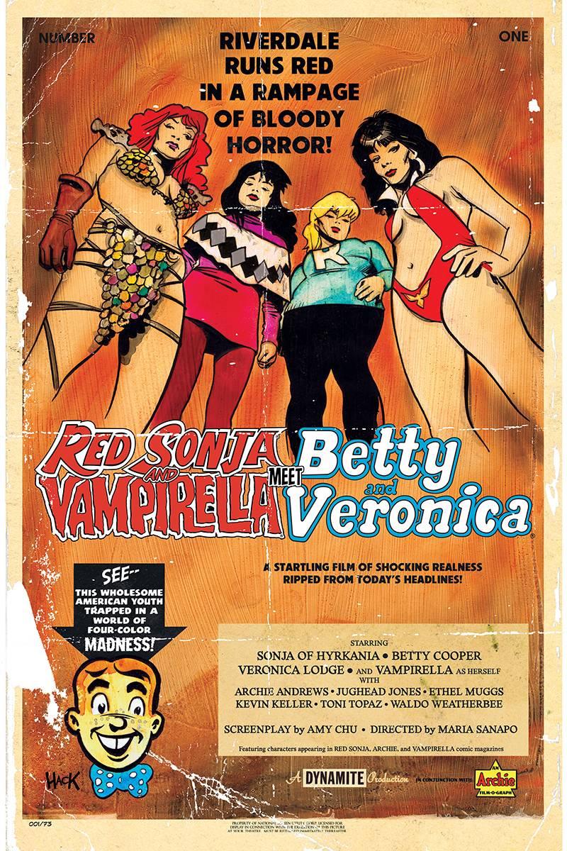 Red Sonja Vampirella Betty Veronica #1 CVR C Hack