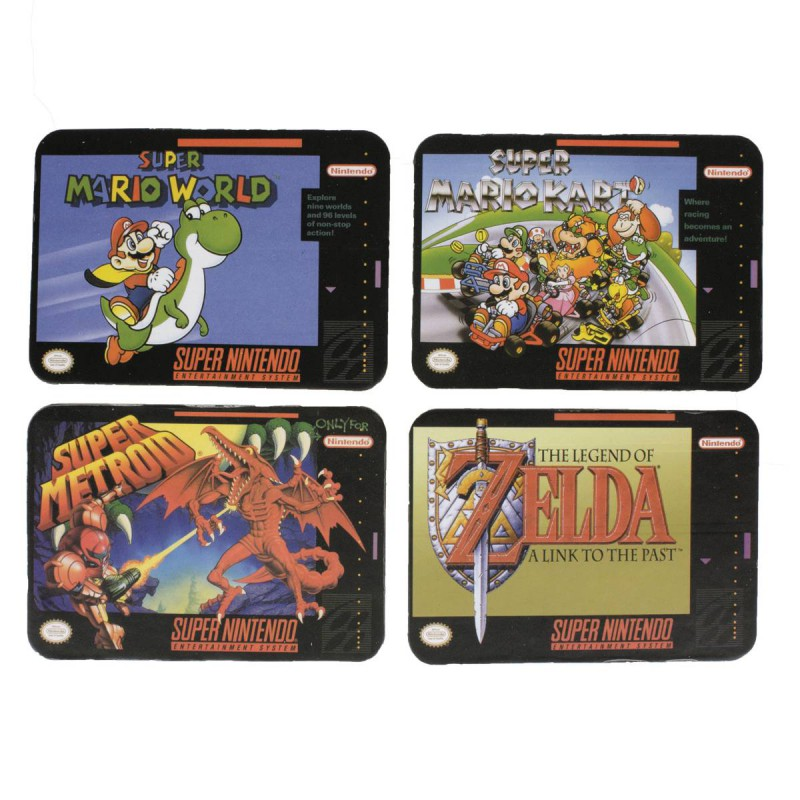 Nintendo Coasters Snes Game 4-pack