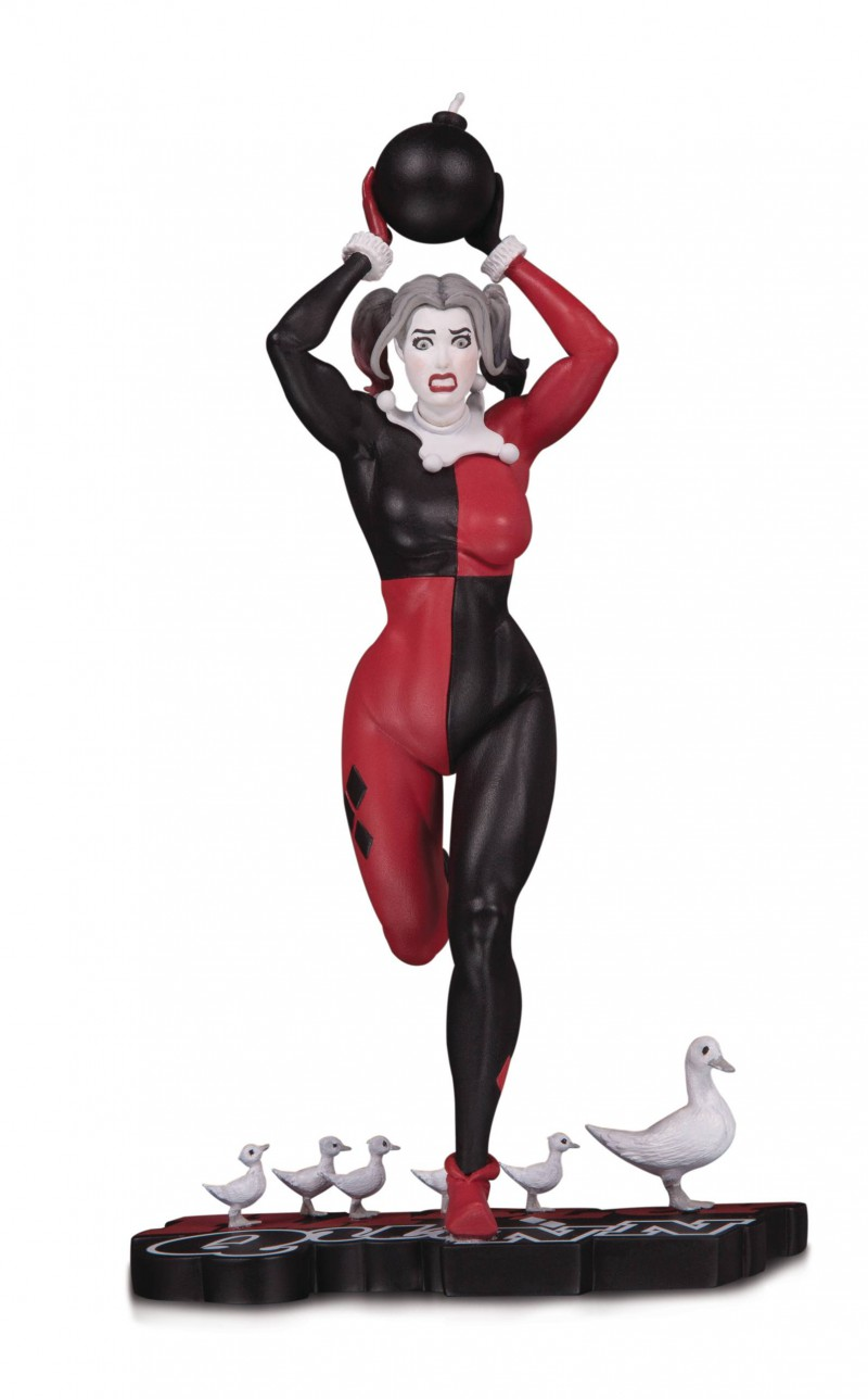 DC Statue Harley Quinn Red White and Black by Frank Cho
