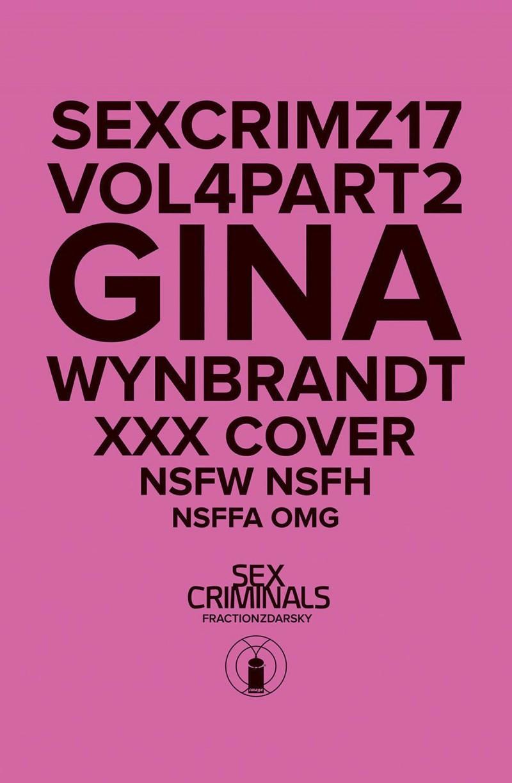 Sex Criminals #17 CVR B XXX Wynbrandt