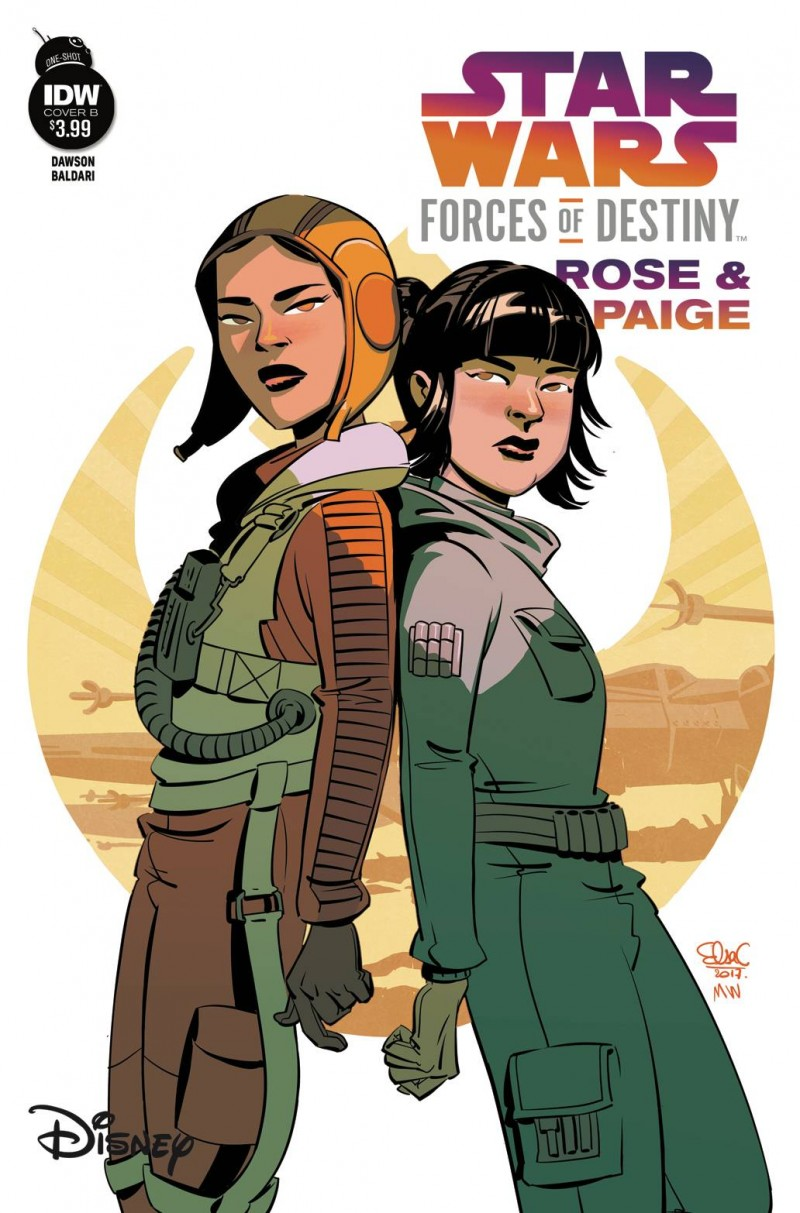 Star Wars Adventure Forces of Destiny Rose and Paige CVR B