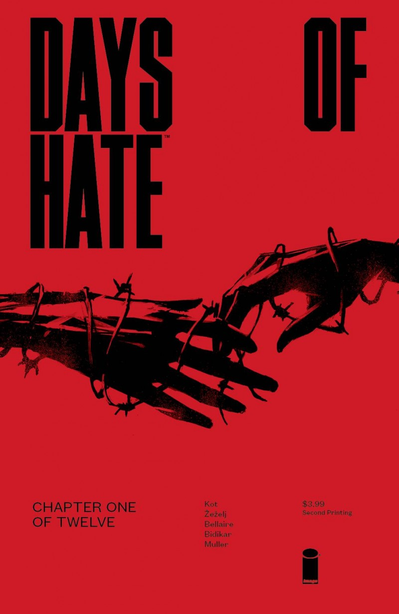 Days of Hate #1 Second Printing
