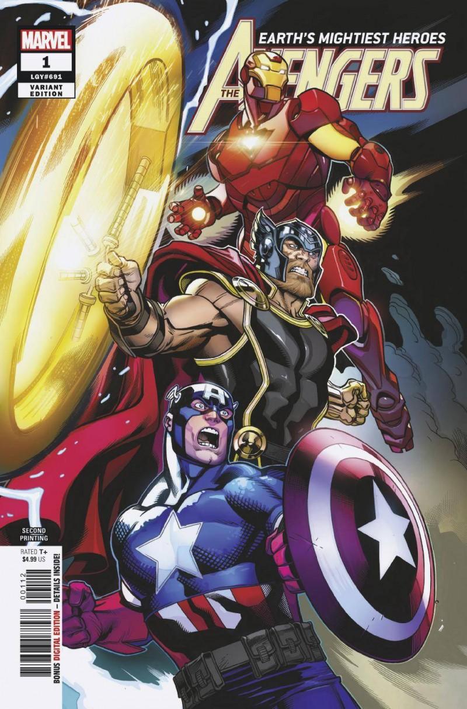 Avengers V7 #1 Second Printing