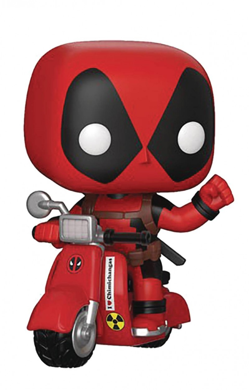 Funko Pop Rides Deadpool and Scooter