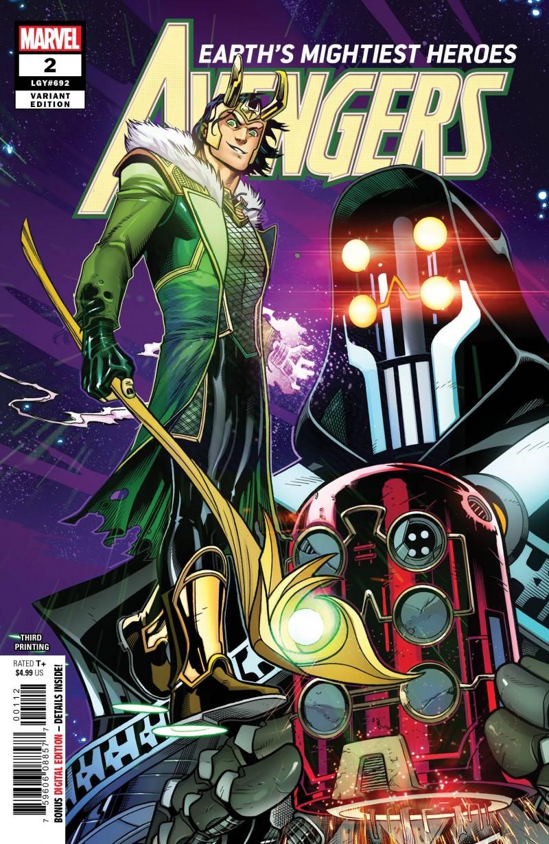 Avengers V7 #2 Third Printing