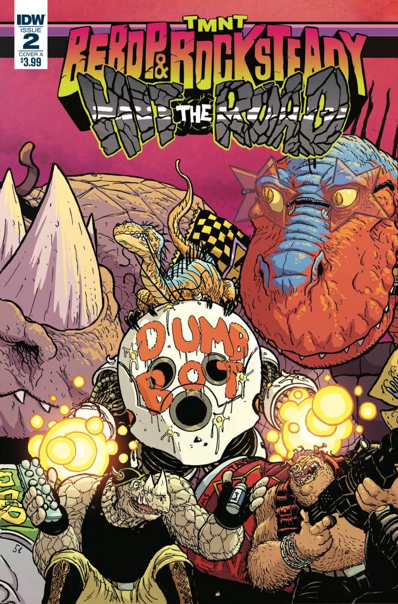 Tmnt Bebop Rocksteady Hit the Road #2 CVR A Pitarra