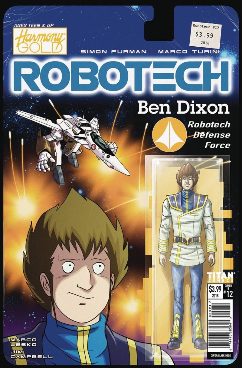 Robotech #12 CVR B Action Figure Var