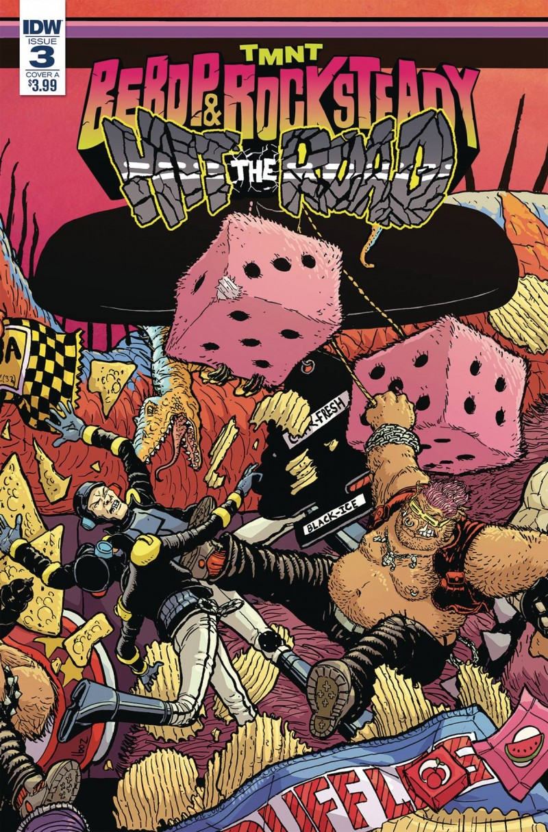 Tmnt Bebop Rocksteady Hit The Road #3 CVR A Pitarra