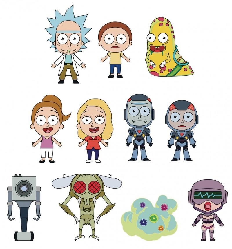 Rick and Morty Laser Cut Figural Keyring