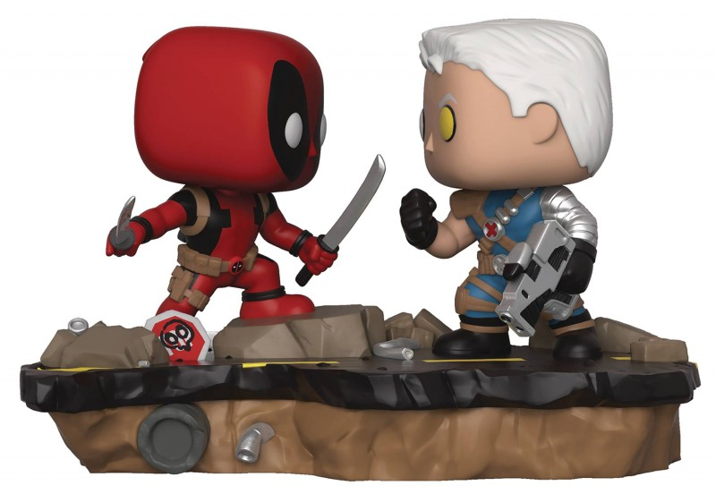 Funko Pop Marvel Comic Moment Deadpool Vs Cable