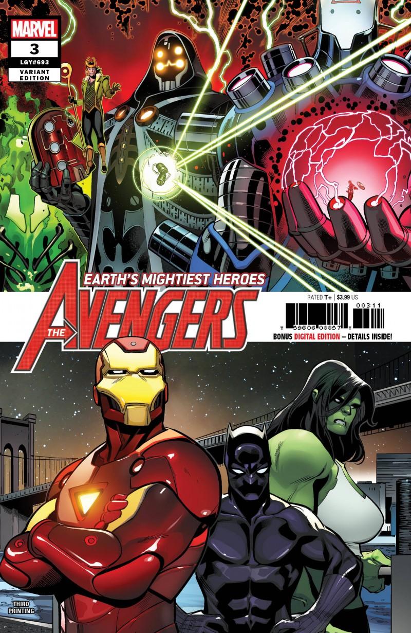 Avengers V7 #3 Third Printing