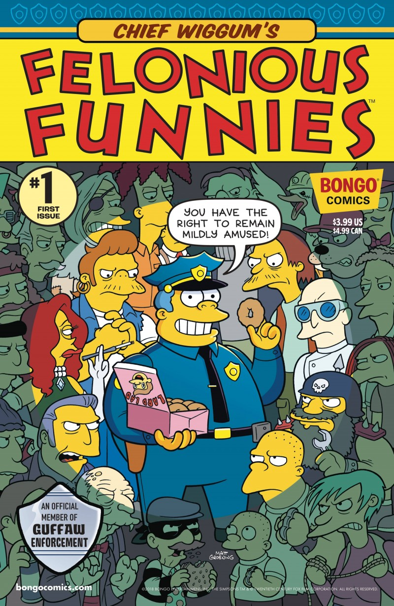 Simpsons One-Shot Chief Wiggums Felonious Funnies