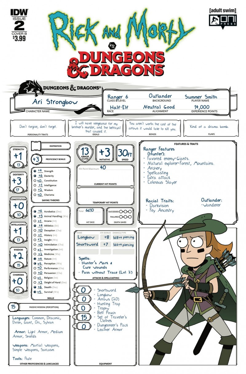 Rick and Morty Vs Dungeons and Dragons #2 CVR B