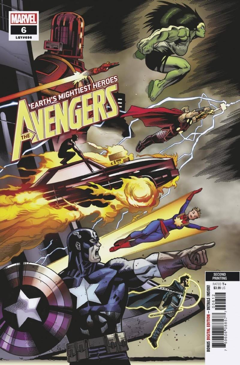 Avengers V7 #6 Second Printing