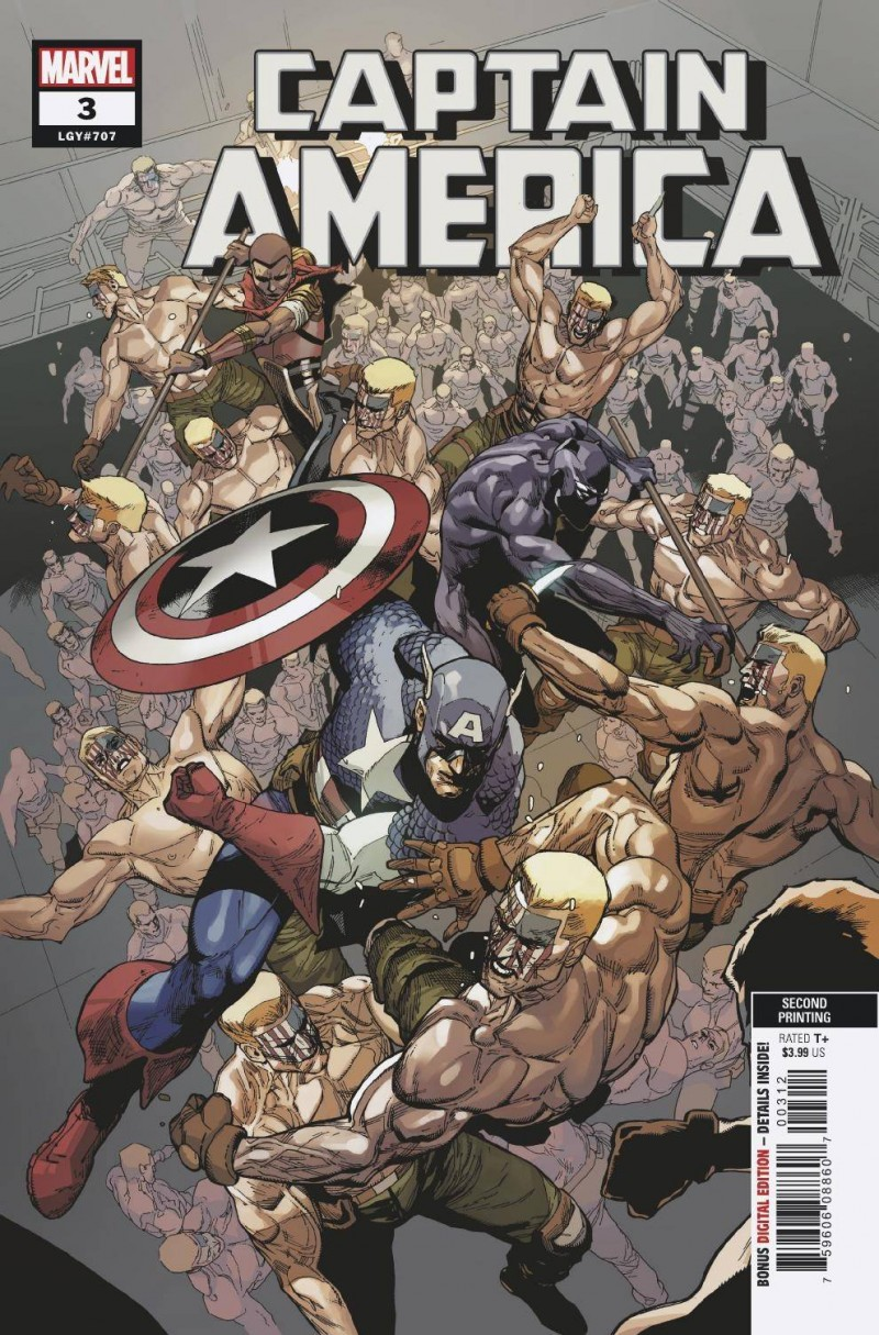 Captain America V8 #3 Second Printing