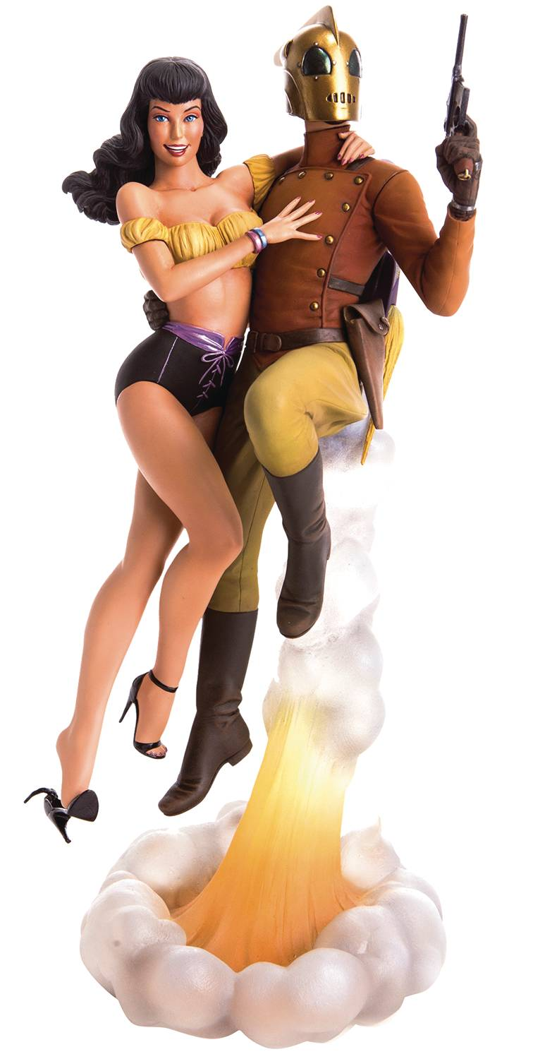 Rocketeer Statue Rocketeer and Betty