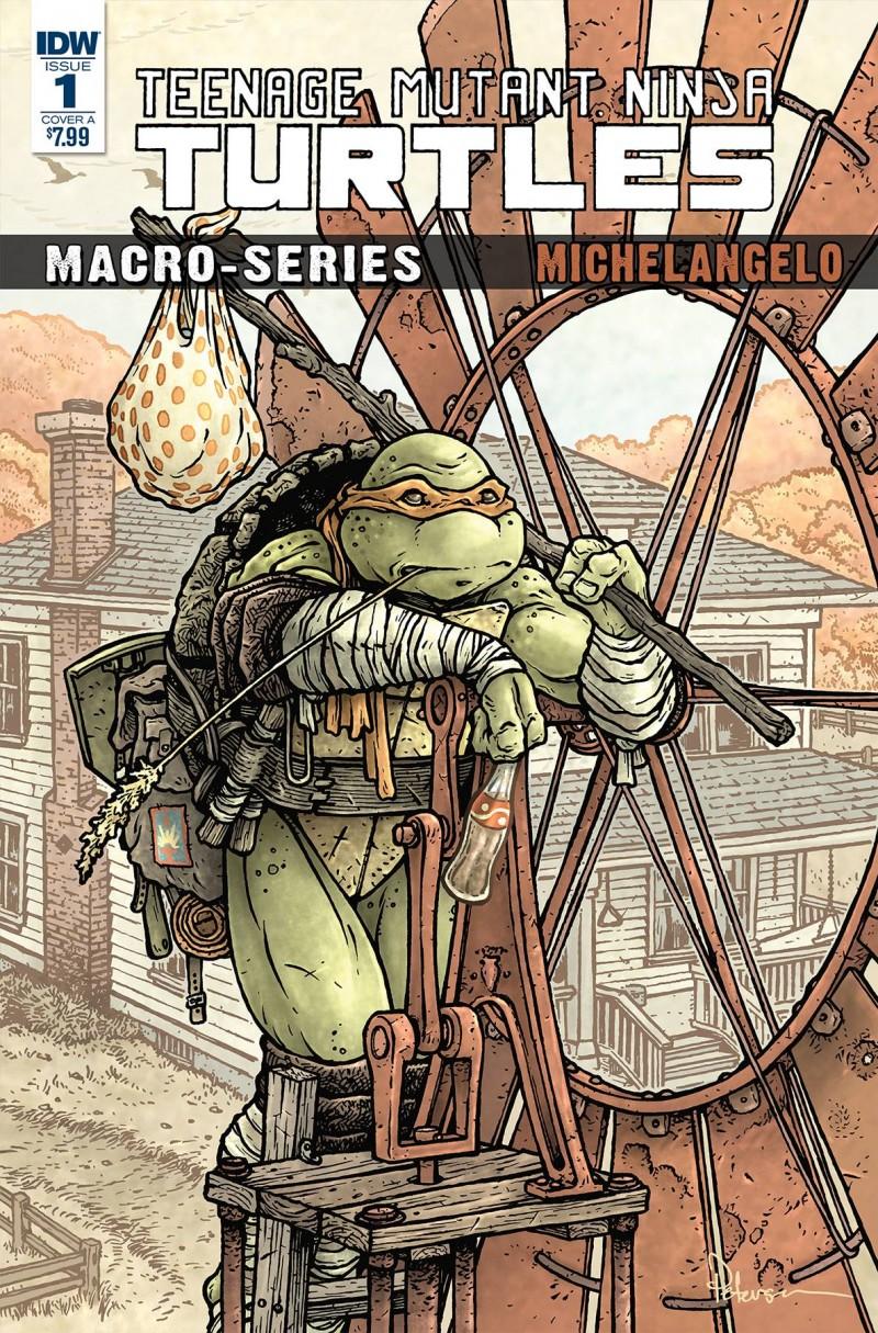 TMNT Macroseries #2 Michelangelo CVR A Petersen