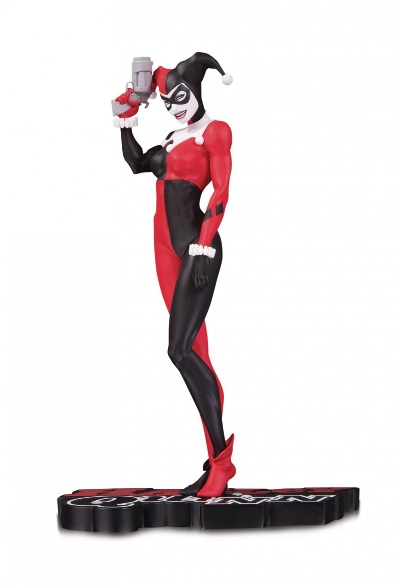 DC Statue Harley Quinn Red White and Black By Michael Turner