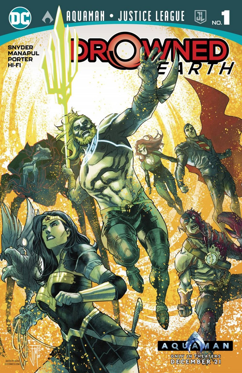 Aquaman Justice League Drowned Earth One-Shot CVR A