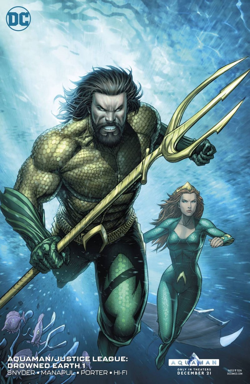 Aquaman Justice League Drowned Earth One-Shot CVR B