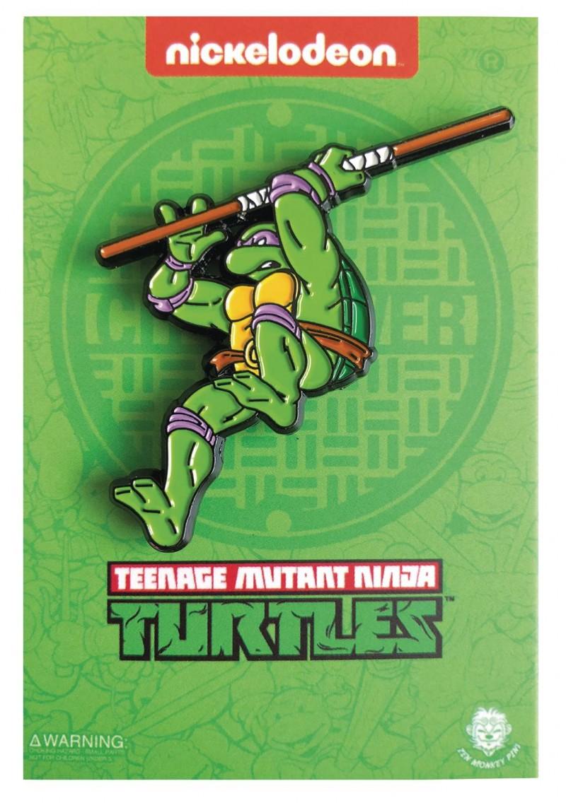 TMNT Enamel Pin Leaping Donatello
